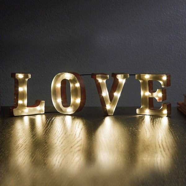 "LOVE (4.5"") Decorative LED Marquee Sign"