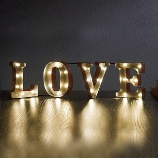 """LOVE (4.5"""") Decorative LED Marquee Sign"""