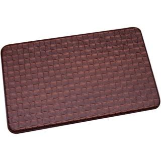 Brown Memory Foam Chef Design Kitchen Floor Mat