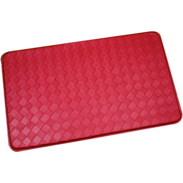 red memory foam anti fatigue kitchen floor mat 16515365 overstock