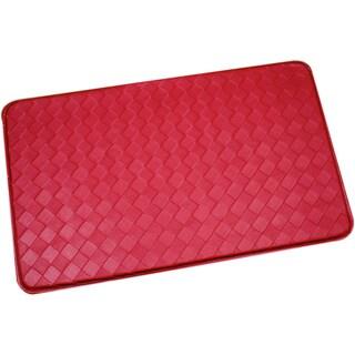 Red Memory Foam Anti-fatigue Kitchen Floor Mat