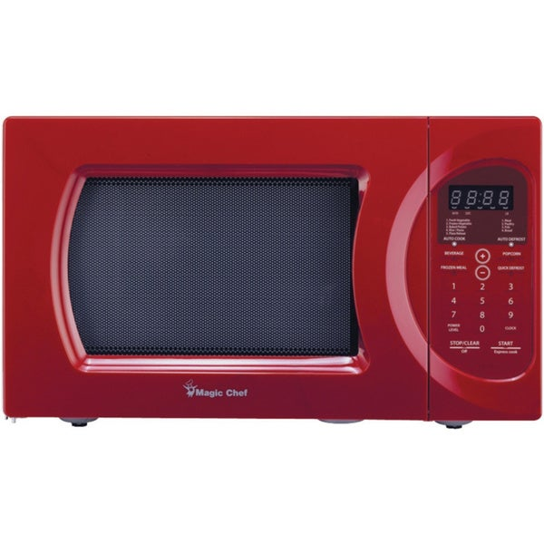 Magic chef red 900watt microwave with digital touch - Red over the range microwave ...