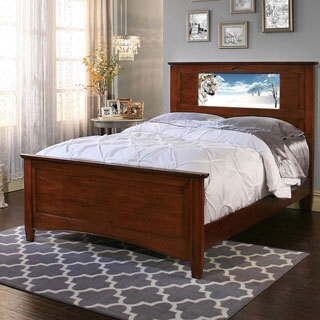 LightHeaded Beds Canterbury Chestnut Full Bed with Changeable Back-lit LED Headboard Imagery
