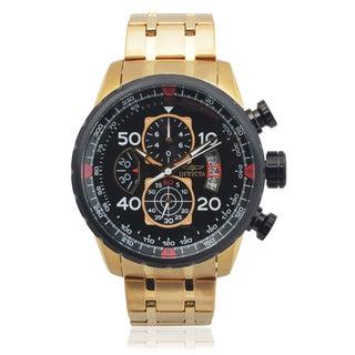 Invicta Men's 17206 Stainless Steel 'Aviator' Chronograph Quartz Watch