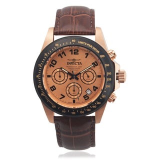 Invicta Men's 10711 Genuine Leather 'Speedway' Quartz Watch