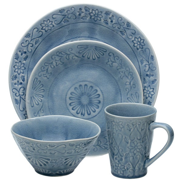 Merkado 16-piece Blue Dinnerware Set 13756442
