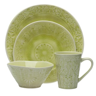 Merkado 16-piece Green Dinnerware Set