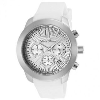 Lucien Piccard Women's Belle LP-12938-02 Chronograph White Rubber Watch