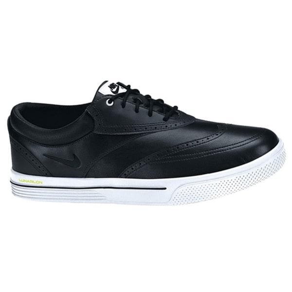 Nike Men's Lunar Swingtip Leather Black/White/Volt Golf Shoes