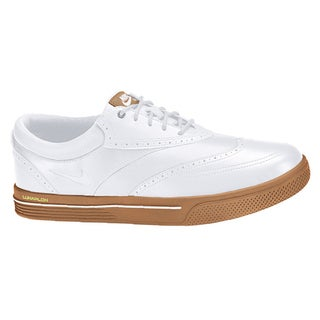 Nike Men's Lunar Swingtip Leather White/Gum Medium Brown/Volt Golf Shoes