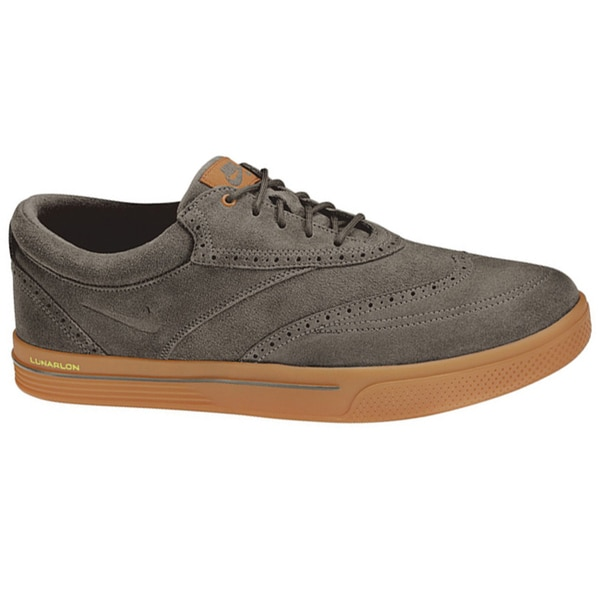 Nike Men's Lunar Swingtip Suede Ridgerock/Gum Medium Brown/Volt Golf Shoes