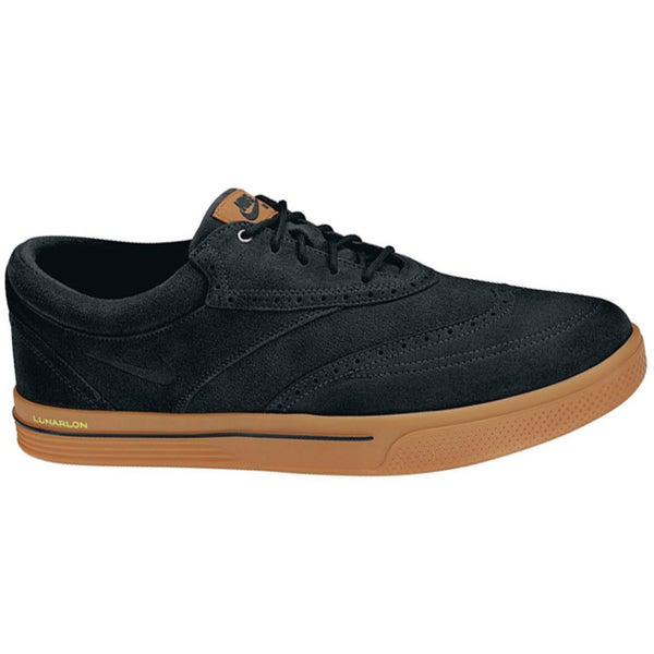 Nike Men's Lunar Swingtip Suede Black/Gum Medium Brown/Volt Golf Shoes