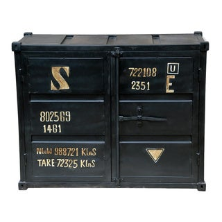 Black 2-door Container Buffet