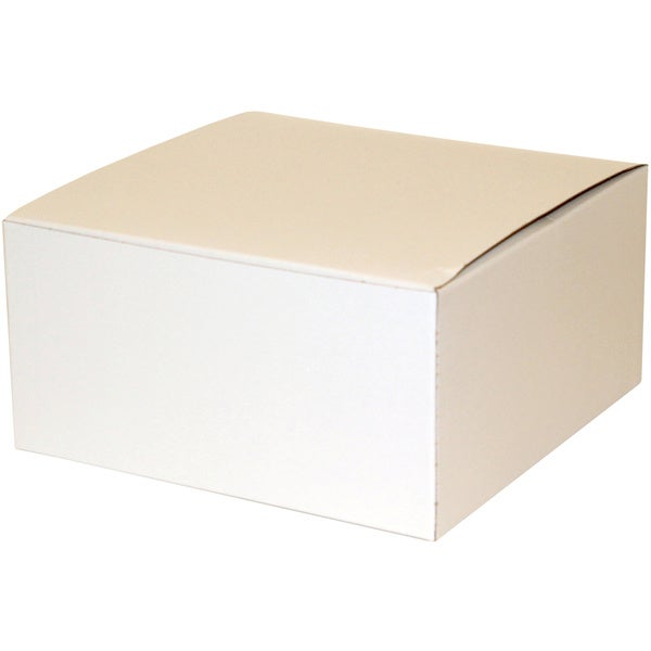 "Premier Packaging White Decorative Gift Boxes (8"" x 4"") (Pack of 10)"