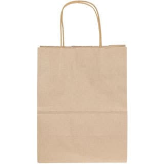 "Premier Packaging Oatmeal Kraft Shopping Bags (8.25"" x 10.5"") (Pack of 15)"