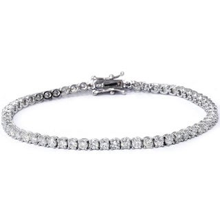 Bliss 4 CTTW Diamond Tennis Bracelet in 14K White Gold (H-I, I2-I3)