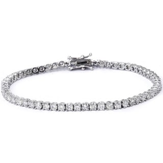 14k White Gold 4 ct TW Diamond Tennis Bracelet (I-J, I2-I3)
