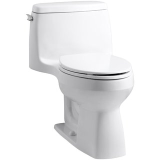 Kohler Santa Rosa White Comfort Height 1-piece 1.28 GPF Compact Elongated Toilet