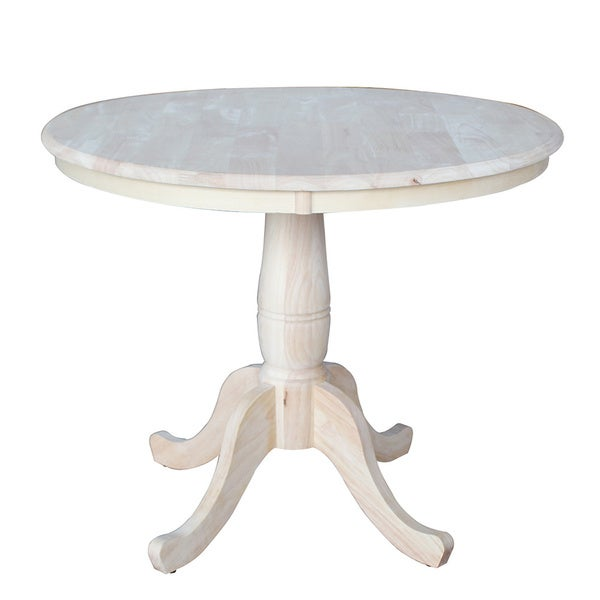 Unfinished 30-inch High Round Pedestal Table - 16539216 - Overstock ...