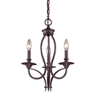 Medford 3-light Oiled Bronze Chandelier