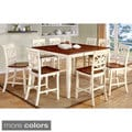Furniture of America Betsy Joan Duo-Tone 9-Piece Counter Height Table Set