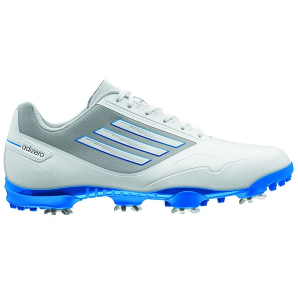 Adidas Men's Adizero One Running White/Bahia Blue Golf Shoes