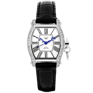 Juicy Couture Women's 1901092 Dalton Black Leather Watch