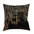 Thumbprintz Yes No Maybe Throw Pillow or Floor Pillow