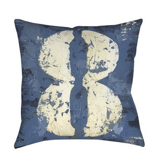Thumbprintz Vintage Numbers VIII Throw Pillow or Floor Pillow