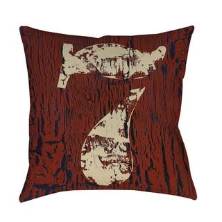 Thumbprintz Vintage Numbers VII Throw Pillow or Floor Pillow