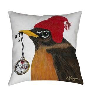 Thumbprintz You Silly Bird Grafton Throw Pillow or Floor Pillow