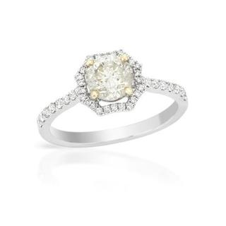 18K White Gold 1.32ct TDW Diamond Ring