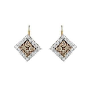 Earrings with 1 3/4ct TW Diamonds Crafted in Two-tone Gold