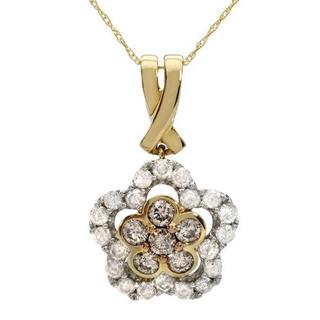 Two-tone Gold 1 1/4ct TW Diamonds Five-stone Necklace