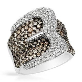 Ring with 2.95ct TW Diamonds Crafted in 14K White Gold