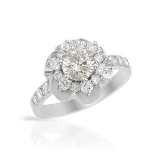 18k White Gold 1.4ct TDW Diamond Solitaire Plus Engagement Ring
