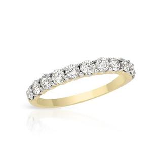14k Yellow Gold 0.89ct TDW Diamond Wedding Band