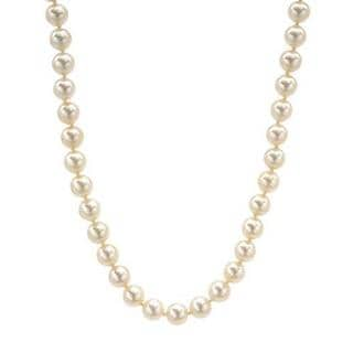 Necklace with Diamonds/ 75 8mmFreshwater Pearls 14K White Gold
