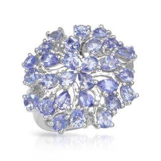 Sterling Silver 3.92 TGW Tanzanite Ring