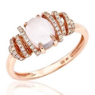 Vida Ring with 1.57ct TW Diamonds and Quartz in 14K Rose Gold