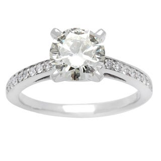 14K White Gold 1.85ct TDW Round Solitaire Ring