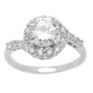 14k White Gold 1 3/4ct TDW Diamond Halo Twist Ring (K, VS2)