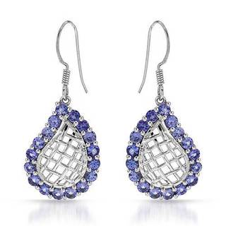 Earrings with 3.6ct TW Tanzanites in .925 Sterling Silver