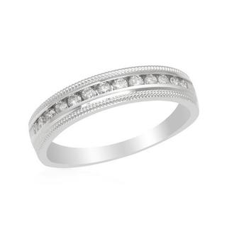 White Gold Diamond Channel Wedding Band