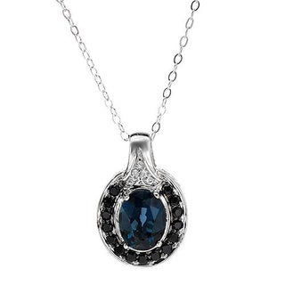 Necklace with 3.8ct TW Spinels, Topazes .925 Sterling Silver