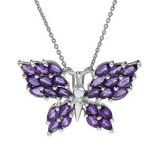Sterling Silver 3.9ct TGW Amethyst Necklace