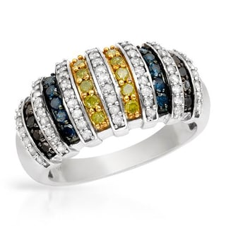 Ring with 0.95ct TW , Diamonds in White Gold