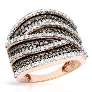 Ring with 1.6ct TW Diamonds in Rose Gold