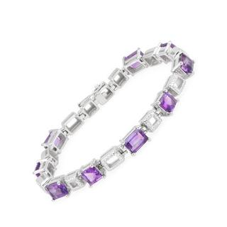 Bracelet with 12.26ct TW Amethysts in .925 Sterling Silver