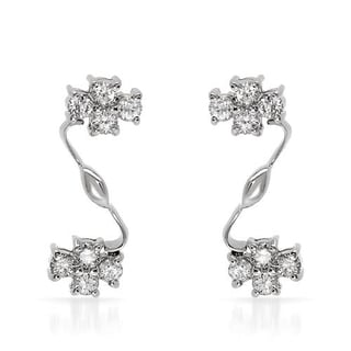 Earrings with 0.9ct TW Diamonds in 18K White Gold